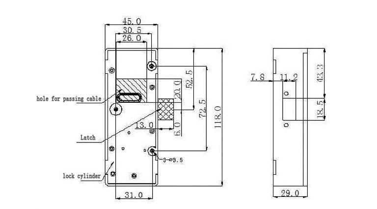 15617104411 - Electronic Combination Keypad Smart Showcase Cabinet Lock SL-C112