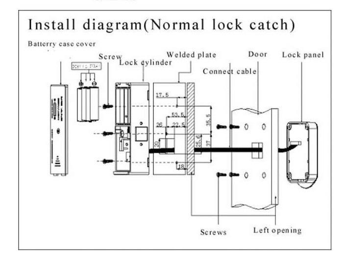 15617104611 - Electronic Combination Keypad Smart Showcase Cabinet Lock SL-C112