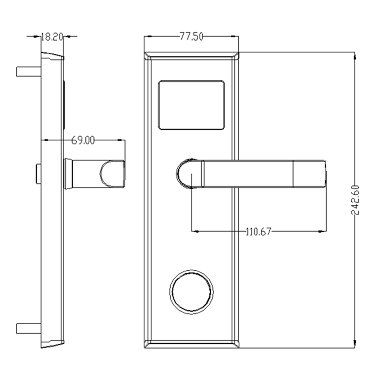 34 - Key Card Door Lock for Hotels SL-8011 Series