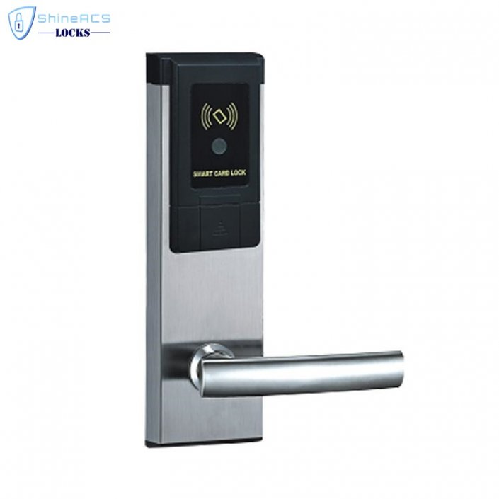 RFID Hotel Keycard lock SL 8113 1 705x705 - RFID Security Commercial Card Swipe Door Locks For Home SL-HL8011-8