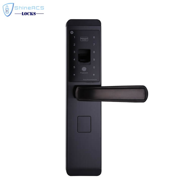 fingerprint front door lock SL F8903 1 - Biometric Fingerprint Keypad Card Door Lock for Home SL-F8903