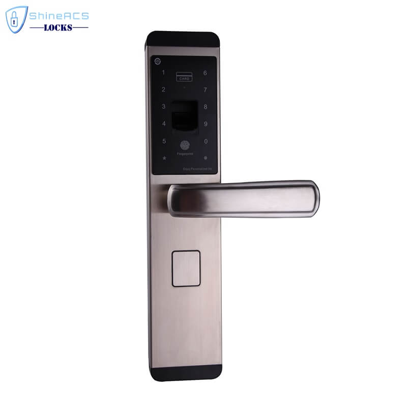 fingerprint front door lock SL F8903 3 - Biometric Fingerprint Keypad Card Door Lock for Home SL-F8903
