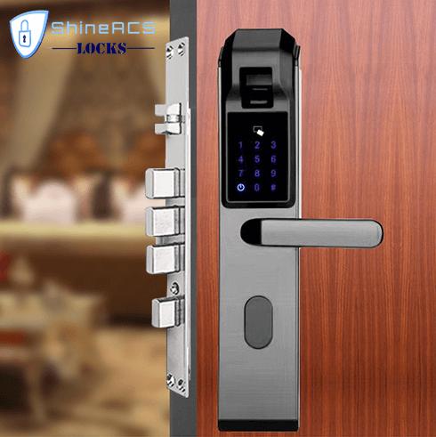 fingerprint front door lock SL F8905 - Fingerprint Biometric Digital Lock for Office and Home SL-F8905
