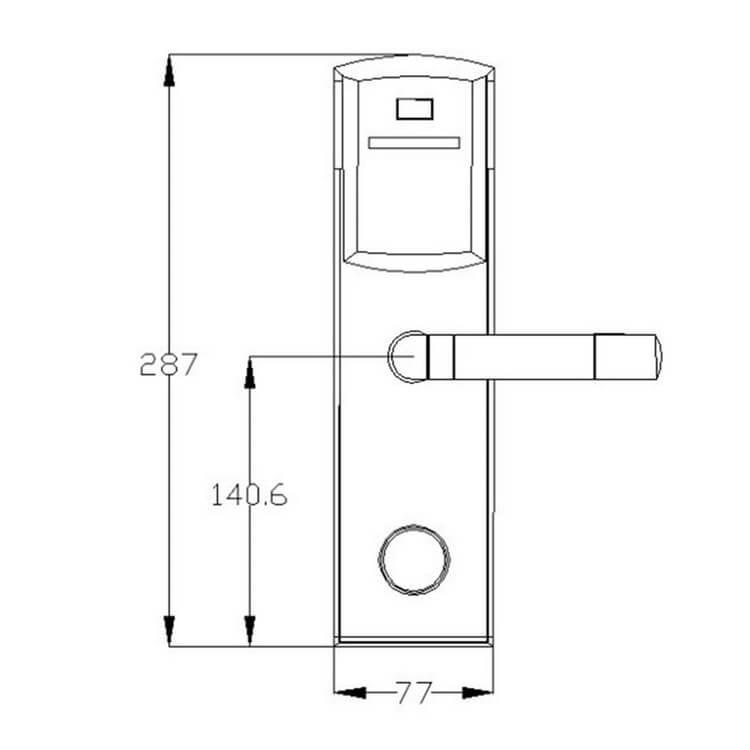hotel lockDH8011 6Y size - Card Swipe Electronic Digital RFID House Door Lock SL-HL8011-6