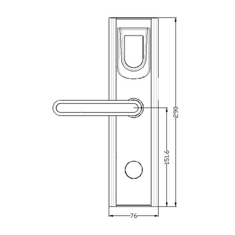 hotel lockDH8018 Y size - Wireless RFID Electronic Key Card Lock For Hotel Rooms SL-HL8018