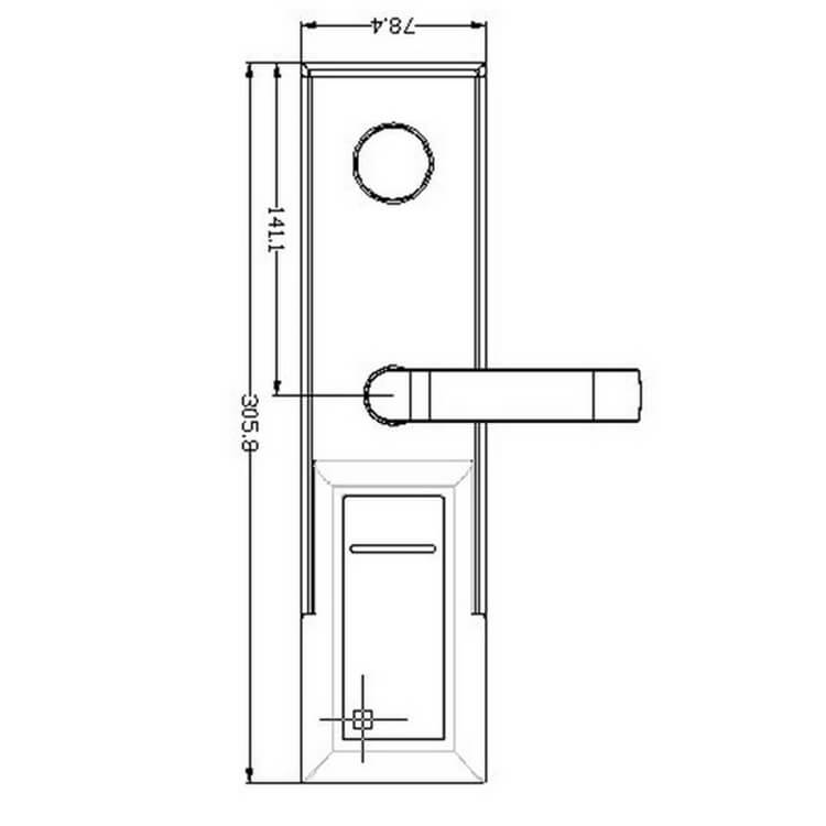 hotel lockhotel lock8011 4 - Battery Powered Key Card Gate Lock For Hotel Guest Room SL-HL8011-4
