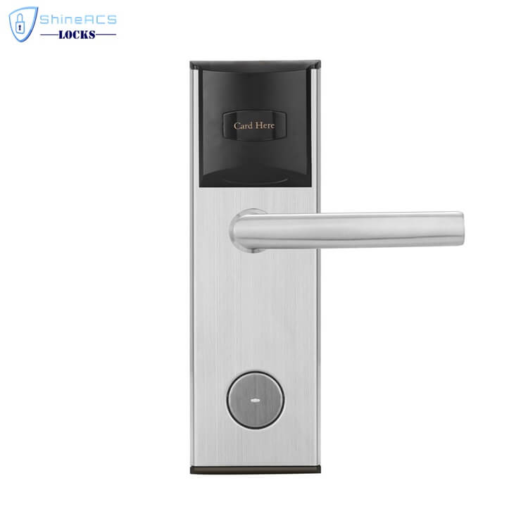 key card door lock for hotels SL 8011 3 1 - Keyless RFID Card Reader Door Lock  For Hotels Room Doors SL-HL8011-3