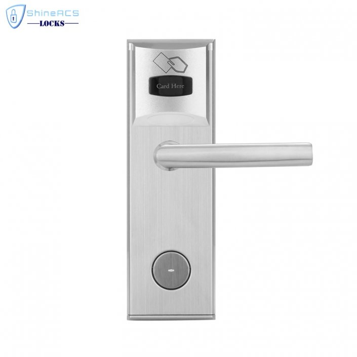 key card door lock for hotels SL 8011 3 5 705x705 - RFID Security Commercial Card Swipe Door Locks For Home SL-HL8011-8