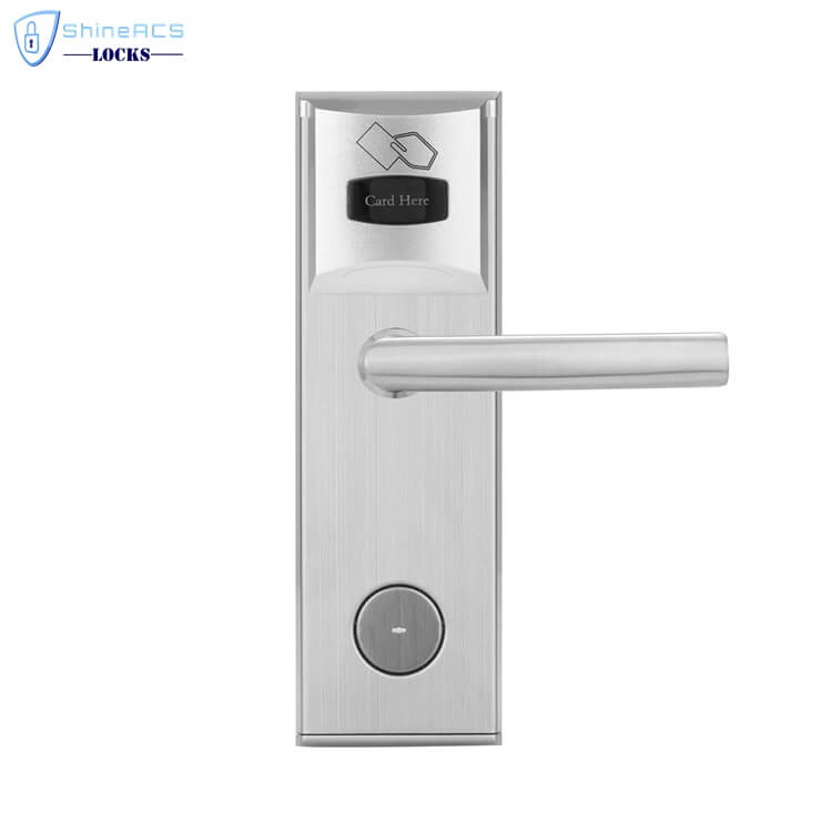 key card door lock for hotels SL 8011 3 5 - Keyless RFID Card Reader Door Lock  For Hotels Room Doors SL-HL8011-3