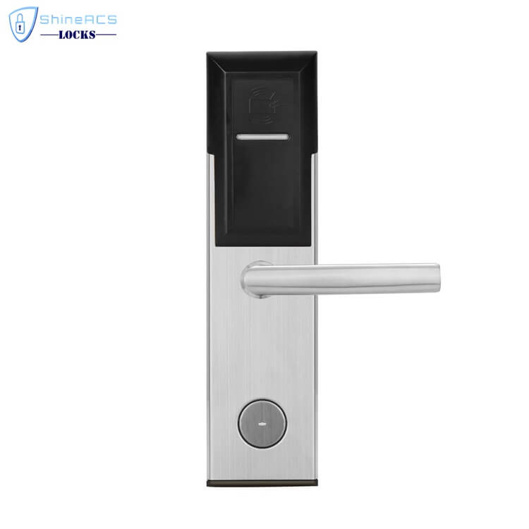 key card door lock for hotels SL 8011 4 1 - Battery Powered Key Card Gate Lock For Hotel Guest Room SL-HL8011-4
