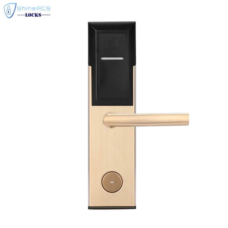 key card door lock for hotels SL 8011 4 3 - Battery Powered Key Card Gate Lock For Hotel Guest Room SL-HL8011-4