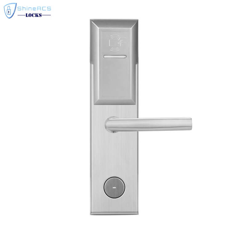 key card door lock for hotels SL 8011 4 4 - Battery Powered Key Card Gate Lock For Hotel Guest Room SL-HL8011-4