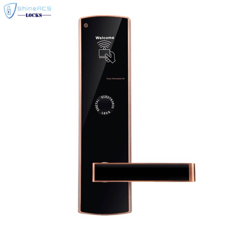 fechaduras rfid para hotéis SL H8501 1 - Fechaduras com cartão inteligente com segurança para portas de hotéis SL-HL8501