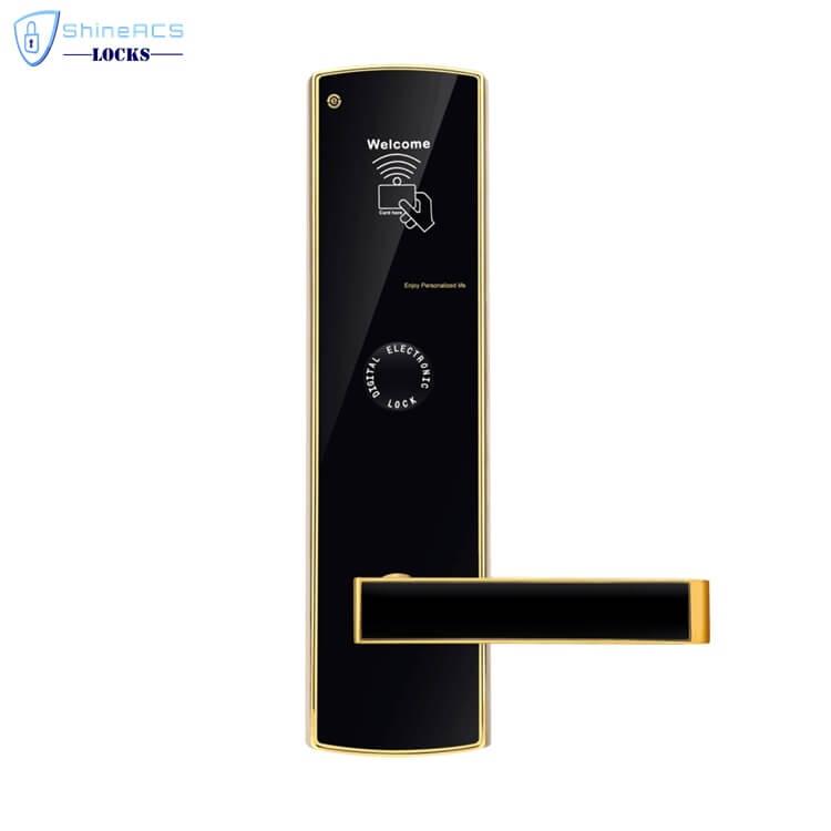 fechaduras rfid para hotéis SL H8501 3 - Fechaduras com cartão inteligente com segurança para portas de hotéis SL-HL8501
