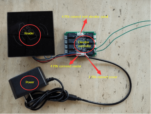 15631785901 - Elevator control panel and card reader module