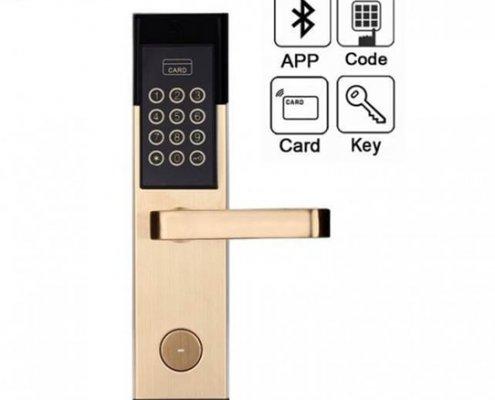 Hotel RFID Keypad Password Door Lock SL P8813 2 705x705 1 495x400 - Smart RFID Mifare Door Lock with Pin Code and Mechanical Keys SL-P8822