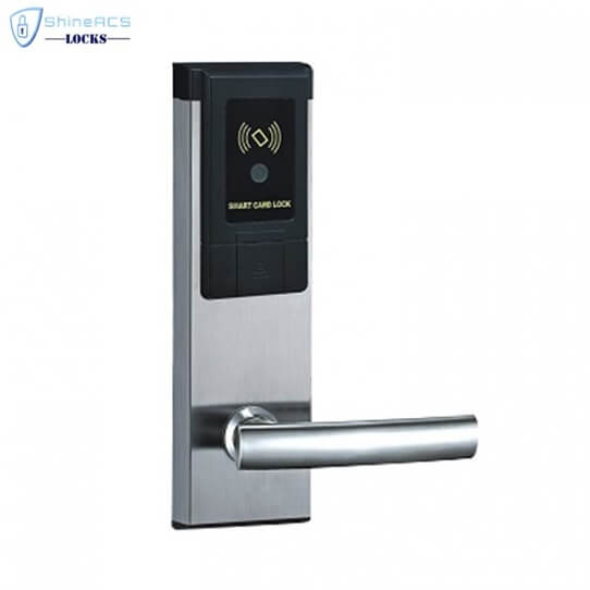 RFID Hotel Keycard lock SL 8113 1 705x705 - Battery Powered Key Card Gate Lock For Hotel Guest Room SL-HL8011-4