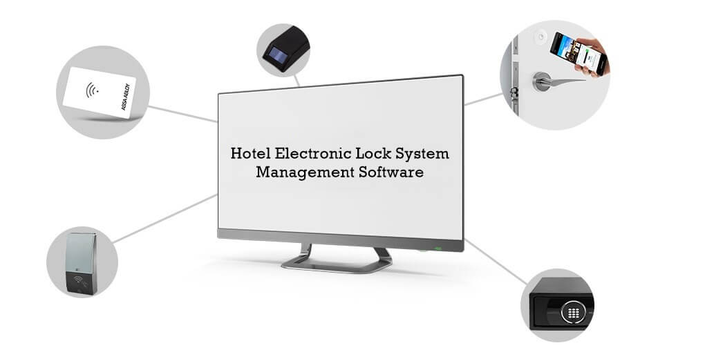 Hotel Door Lock System Management Software 1 - What Hotel Electronic Lock System Components and Usefulness of Each Component?