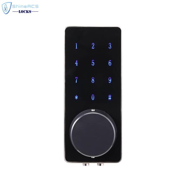 SL HS8055 14 - Fechadura da porta eletrônica inteligente de Bluetooth com trava para apartamentos