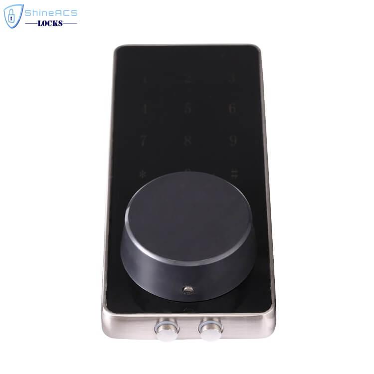 SL HS8055 16 - Fechadura da porta eletrônica inteligente de Bluetooth com trava para apartamentos