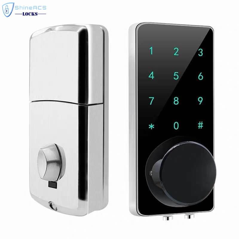 SL HS8055 17 - Fechadura da porta eletrônica inteligente de Bluetooth com trava para apartamentos