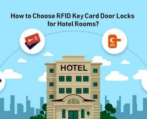 How to Choose RFID Key Card Door Locks for Hotel Rooms 495x400 - Hotel door locks installation guide and video instruction