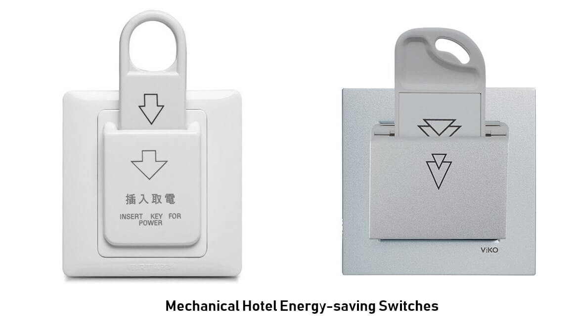 Mechanical hotel energy saving switch 2 - What is Key Card Hotel Energy Saving Switch? And how does it save power for hotels?
