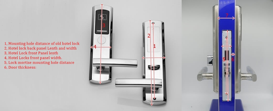 Accurately old hotel door lock measurements - Replace Door Lock for Hotel Rooms: What Factors Need to be Considered?