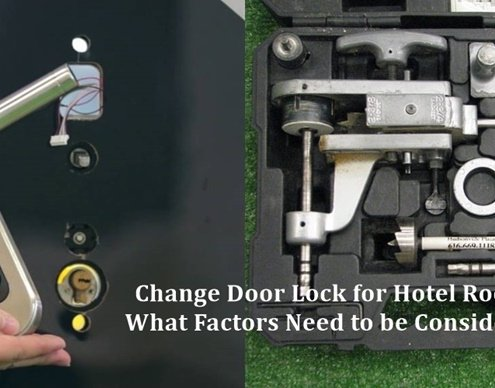 Change Door Lock for Hotel Rooms 1 495x388 - Hotel Door Lock System Price Analysis: 7 Tips Help You Save $10,000 on Hotel Lock System